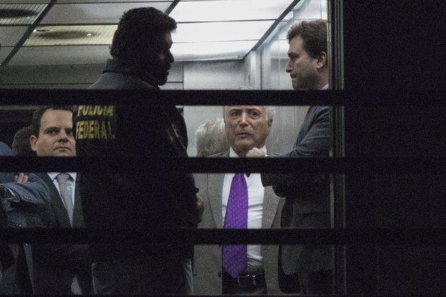 Temer deixa prisão em sede da PF no Rio de Janeiro