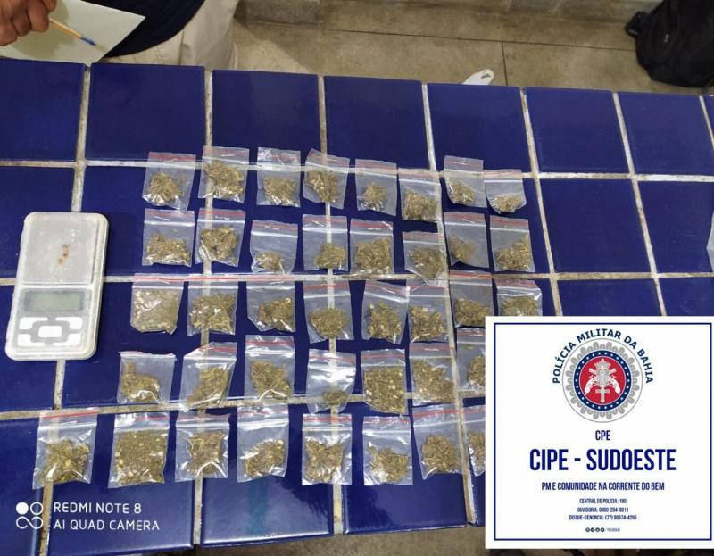 Livramento: Caesg detém indivíduo suspeito de tráfico de drogas no bairro Estocada
