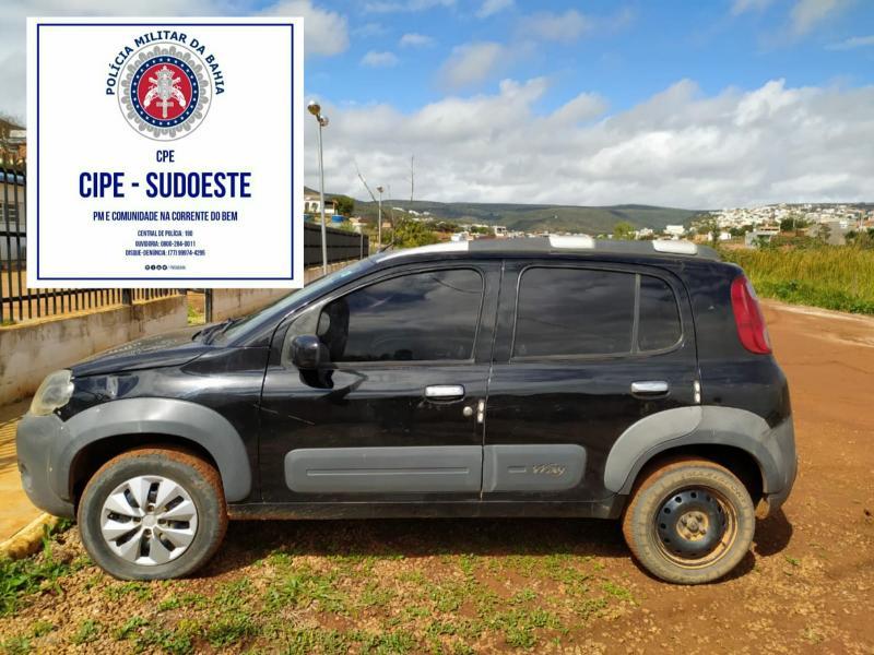 Caculé: Caesg apreende veículo com restrição de roubo