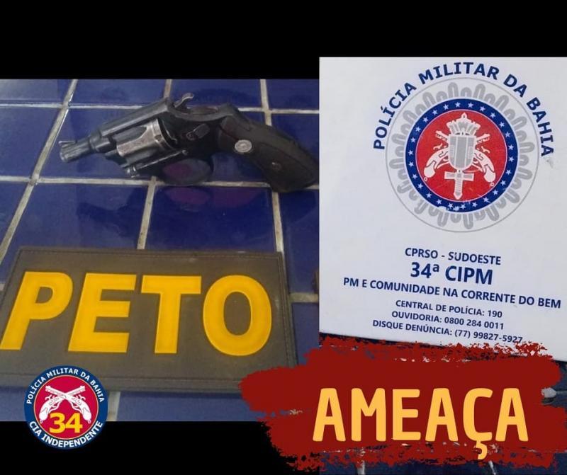 Brumado: Homem é detido após ameaçar familiares com arma de fogo no Bairro Novo Brumado