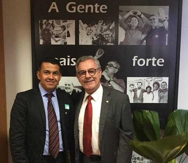 Gil Rocha cumpre agenda em Brasília com o deputado Waldenor Pereira em relação aos recursos destinados a Guajeru