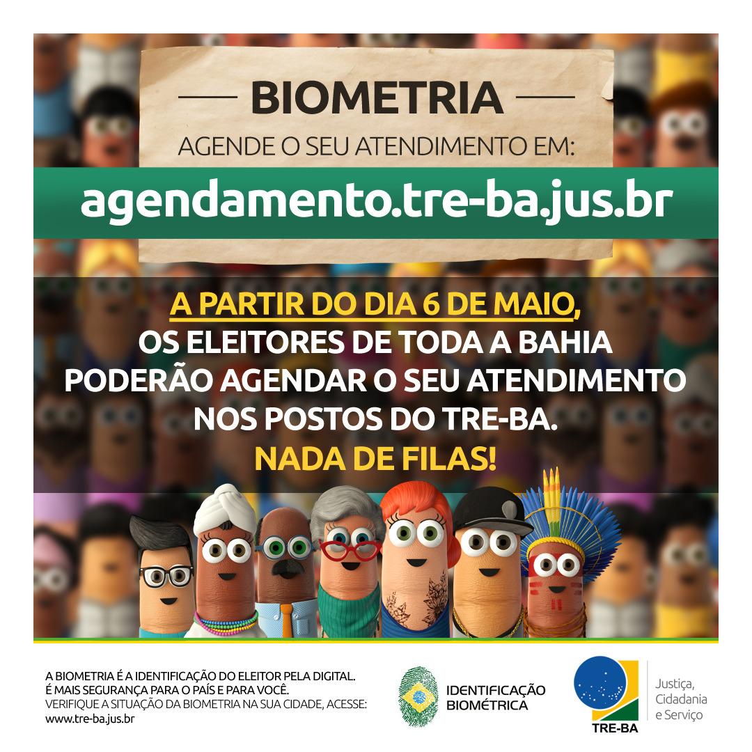 Serviço de agendamento da Justiça Eleitoral começa hoje (6/5) para toda a Bahia