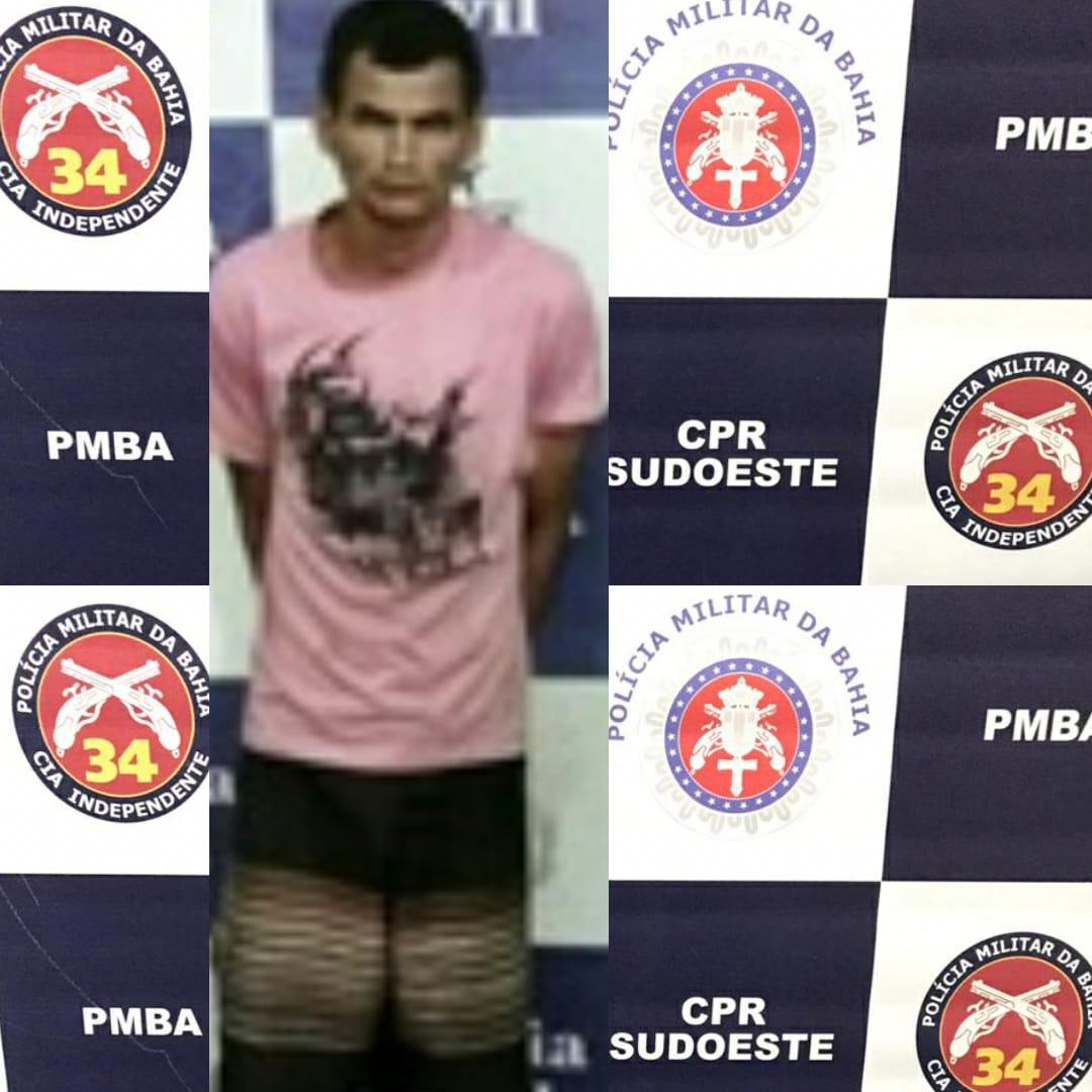 Homem rouba estabelecimento comercial e é preso em flagrante durante outra tentativa de furto na mesma noite em Brumado