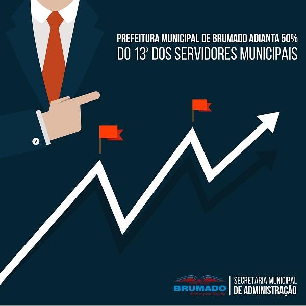 Brumado: Prefeitura antecipa 50% do 13º salário dos servidores municipais