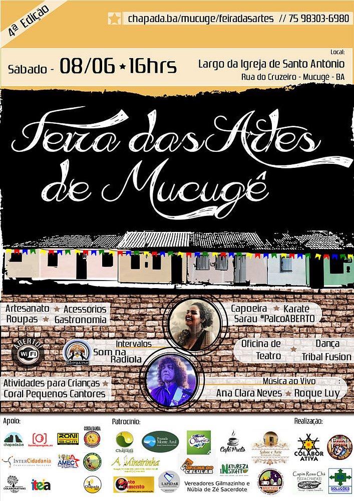 Feira das Artes de Mucugê, na Chapada, acontece no sábado (8)
