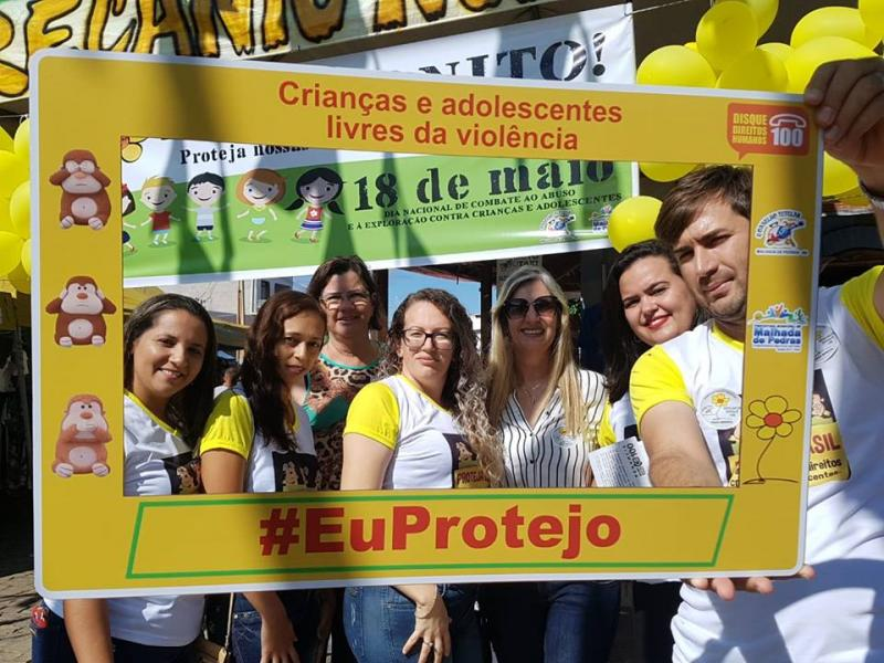 Prefeita de Malhada de Pedras participa de ações voltadas à Campanha de Proteção à Criança e ao Adolescente