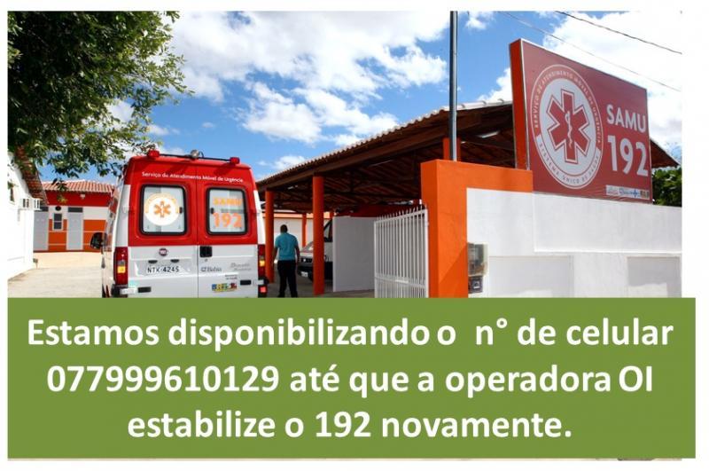 Utilidade Pública: Numero é disponibilizado para emergências em caso de falhas no 192 do SAMU