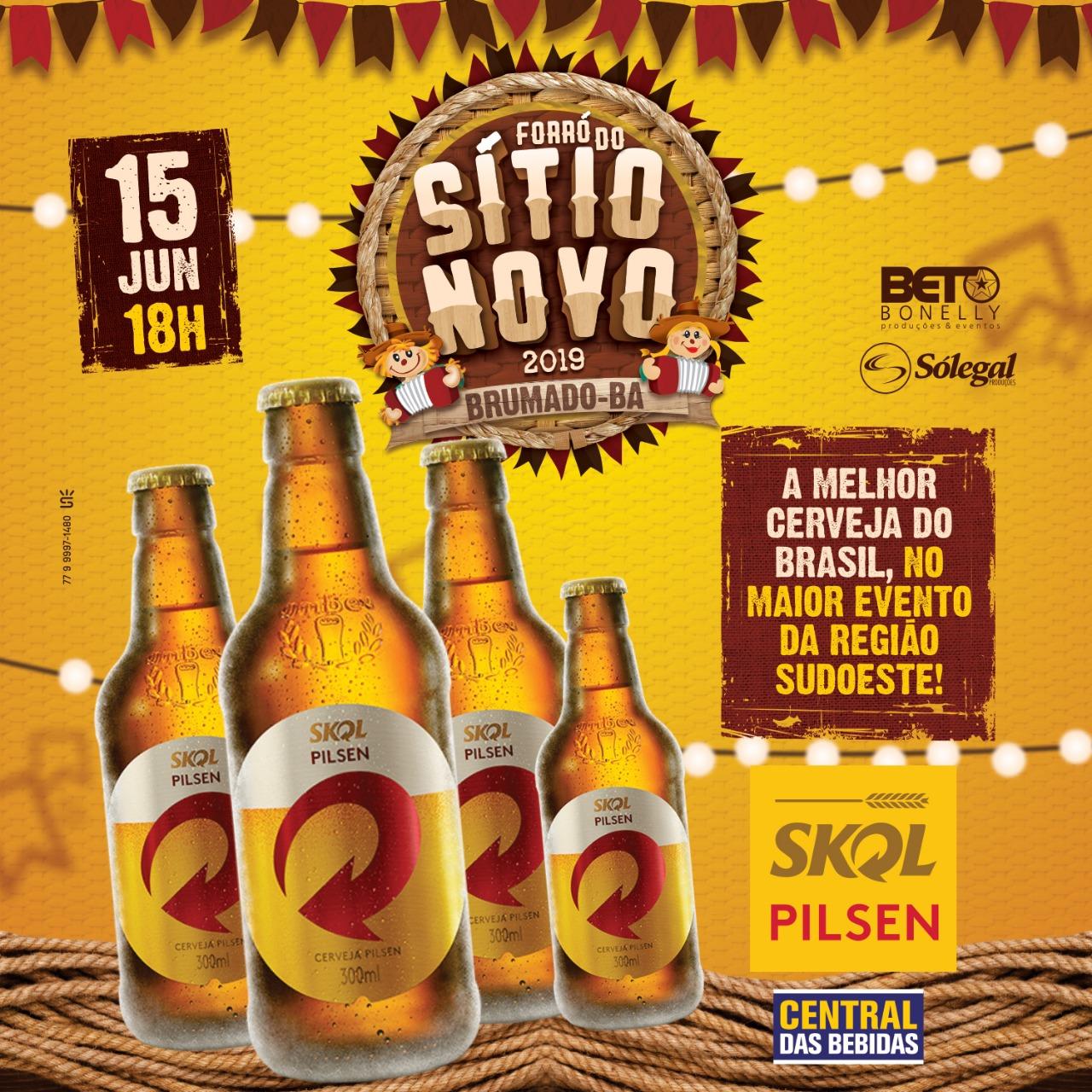 Forró do Sítio Novo 2019: Skol será a cerveja oficial da festa