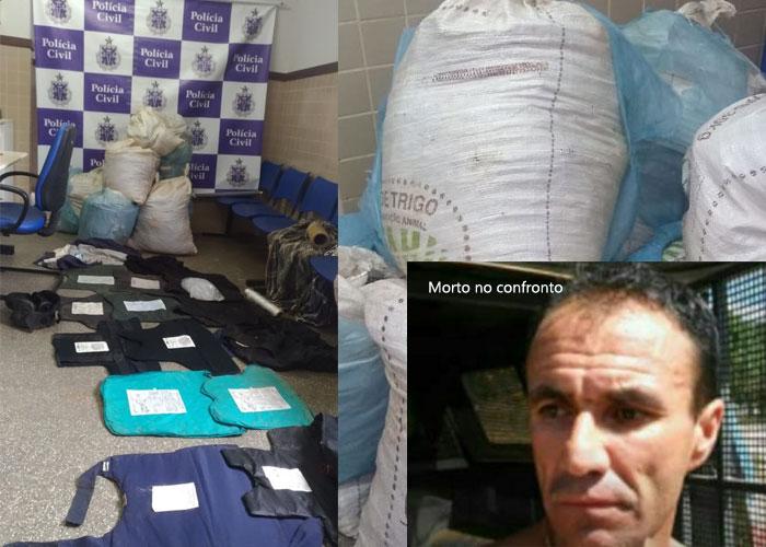 Bandido que teve participação direta na morte do delegado de Barra da Estiva morre em confronto com a polícia em Seabra