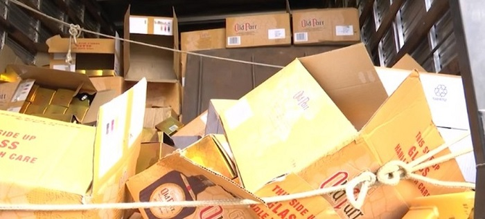 Mais de 1.500 garrafas de whisky roubadas são apreendidas pela PRF na BR-116