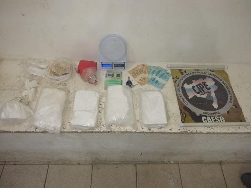 Denúncia leva Cipe Sudoeste até cocaína avaliada em R$ 60 mil