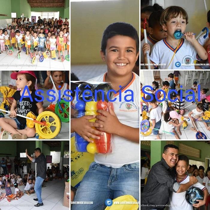 Guajeru: Semana da Criança foi repleta de atividades, brinquedos, diversão e carinho