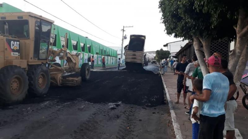 Iniciadas as obras de pavimentação asfáltica nas principais vias de Ituaçu