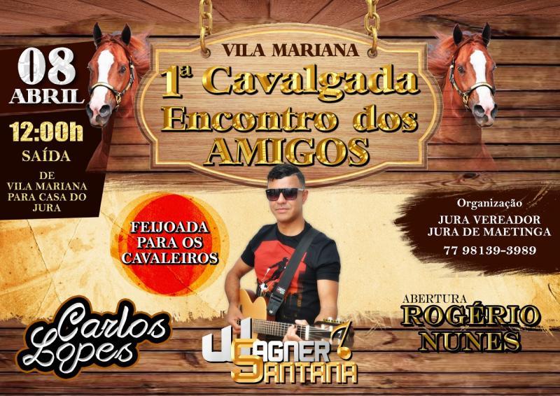 Vem ai a 1ª Cavalgada Encontro dos Amigos em Vila Mariana/Caraíbas
