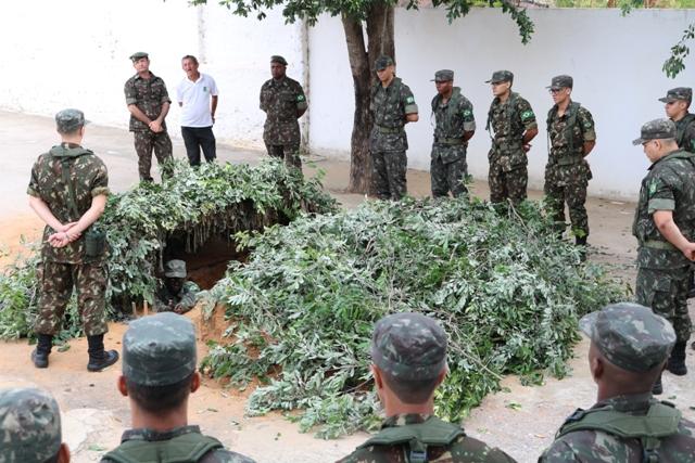 Tiro de Guerra 06/024 recebe visita de inspeção do chefe da seção de Tiros de Guerra da 6ª Região Militar
