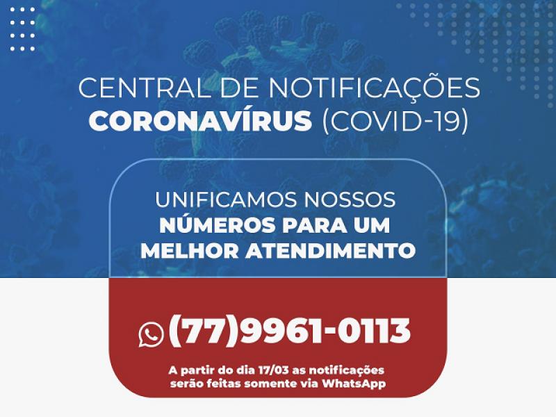Brumado: Central de Notificações Covid-19 é unificada em novo número