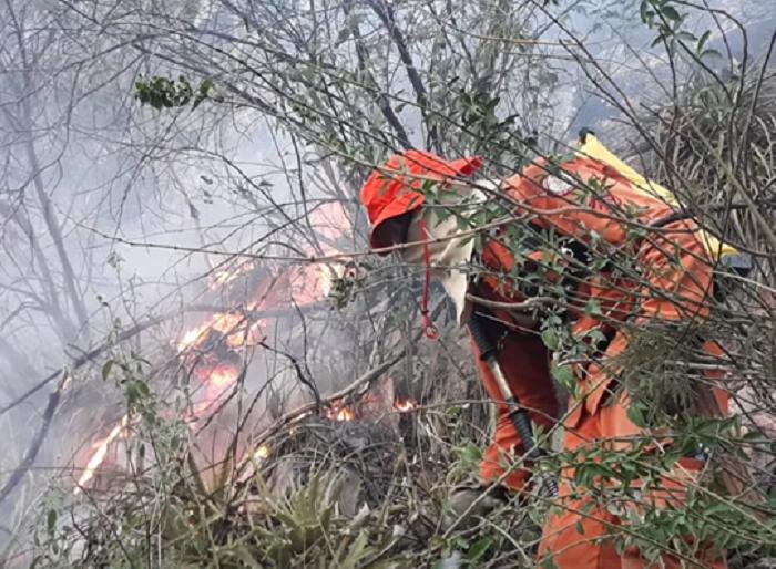 Incêndio de grandes proporções atinge área de vegetação entre Rio de Contas e Livramento