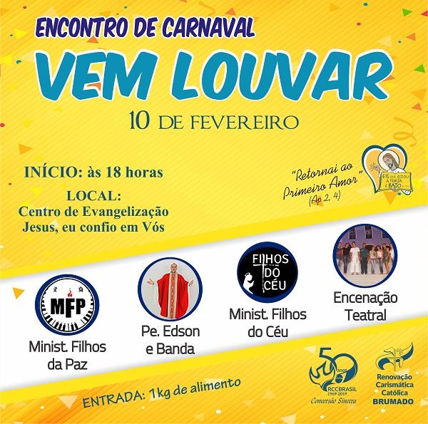 RCC de Brumado convida para 1º Vem Louvar