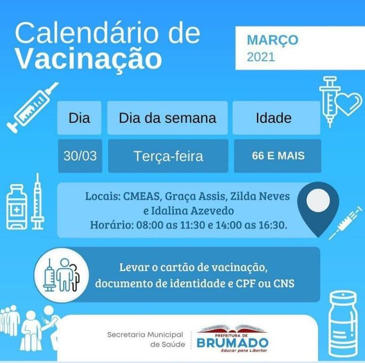 Brumado: Novo calendário de vacinação Covid-19 é divulgado