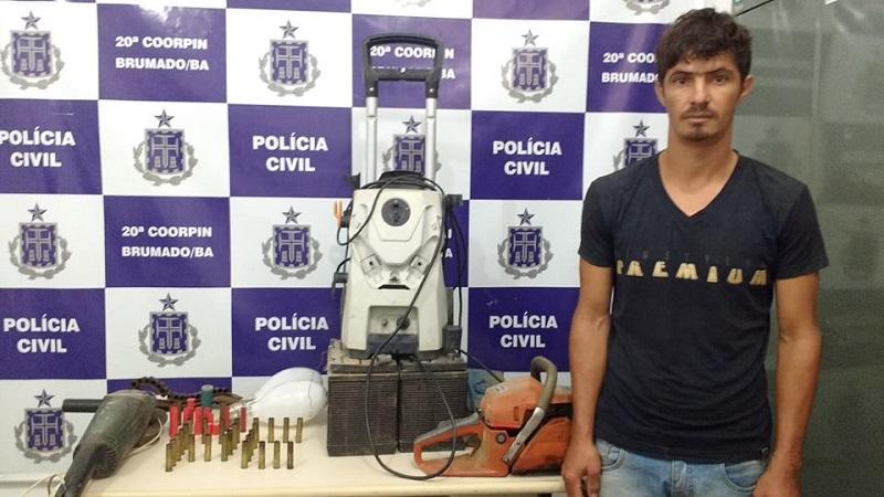 Brumado: Polícia Civil prende receptador e encontra ferramentas e objetos furtados