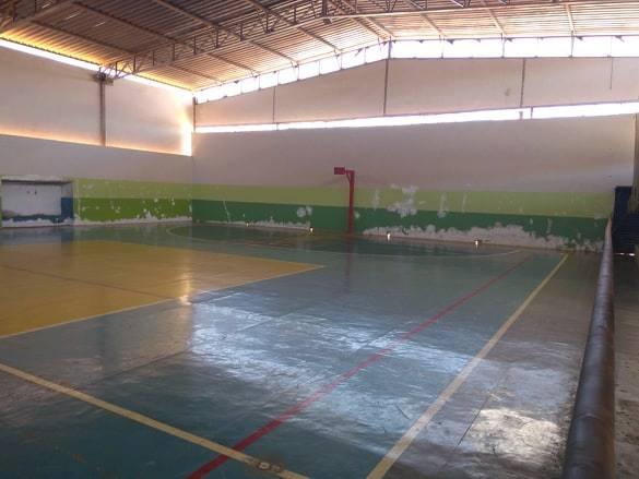Ginásio poliesportivo de Aracatu tem obras de reforma iniciadas