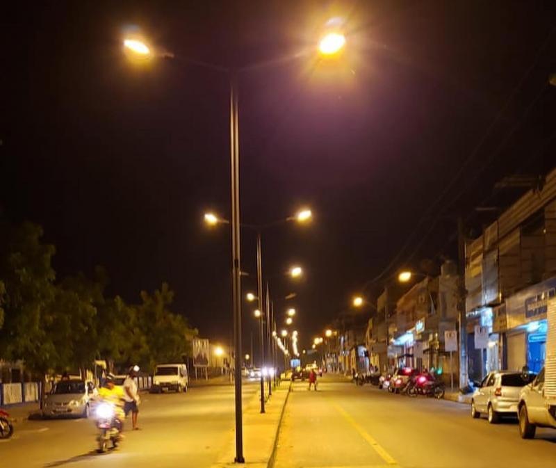 Brumado: Iluminação da Av. Antônio M. Guimarães está em fase de testes e deverá ser inaugurada neste mês de julho