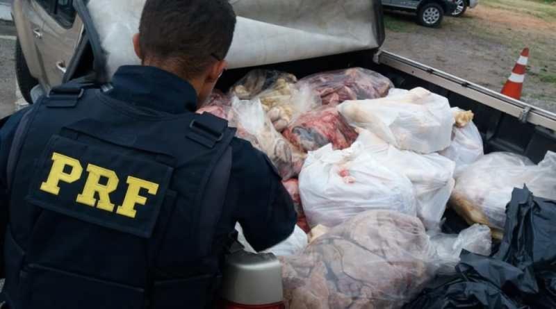 Carga de 700 kg de carne transportada de forma irregular é apreendida em Jequié