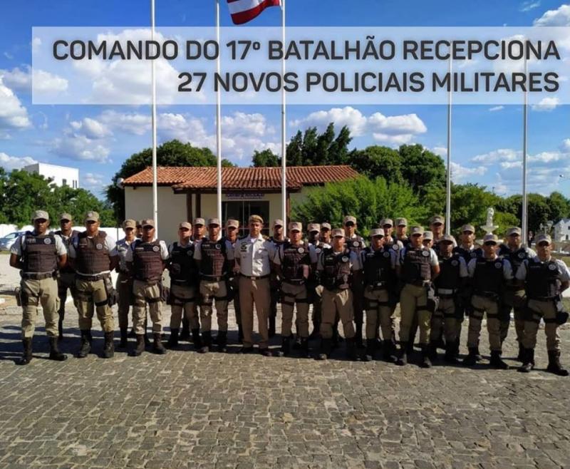Comando do 17º Batalhão de Guanambi recepciona 27 novos policiais militares