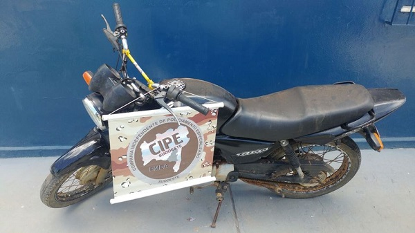 Paramirim: CIPE Sudoeste recupera moto roubada na zona rural