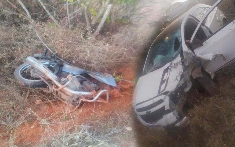 Brumado: Colisão entre moto e Carro deixa uma vítima fatal na região de Ubiraçaba