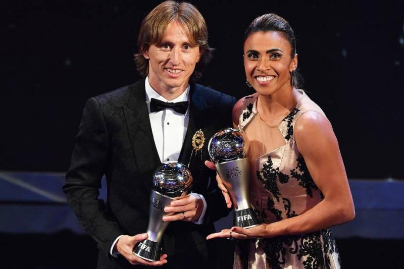 Marta e Modric são eleitos melhores do mundo pela FIFA