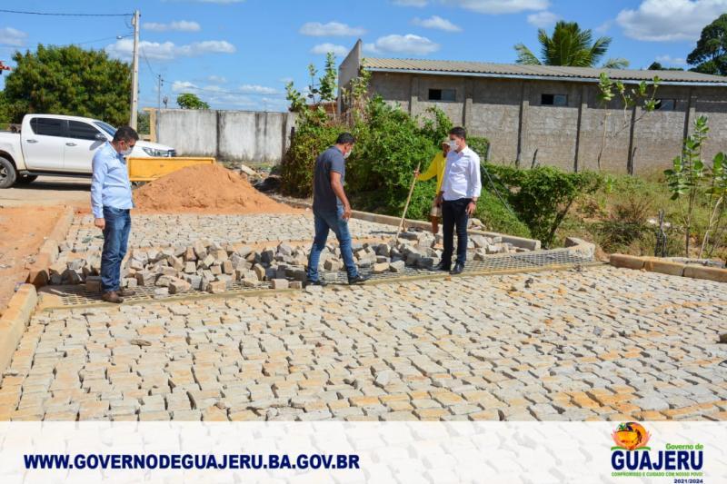 Prefeito Jilvan Teixeira (Galego) visita obras em andamento no município