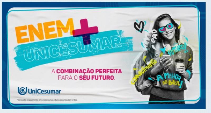 A EAD Unicesumar vai dar descontos de acordo com a nota do Enem