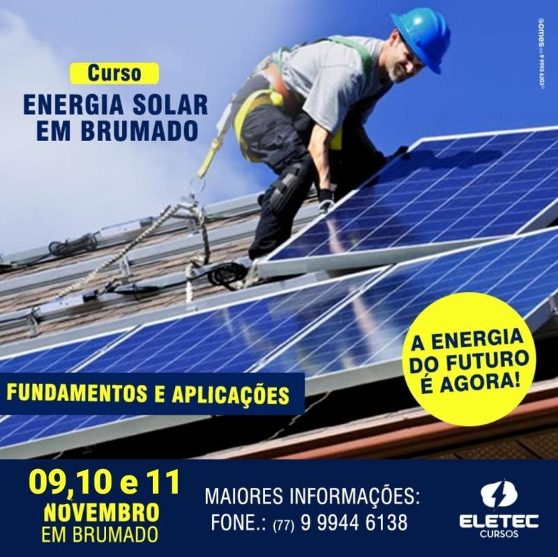 Brumado: Confira essa oportunidade de se tornar um de Instalador de Sistemas de Energia Solar