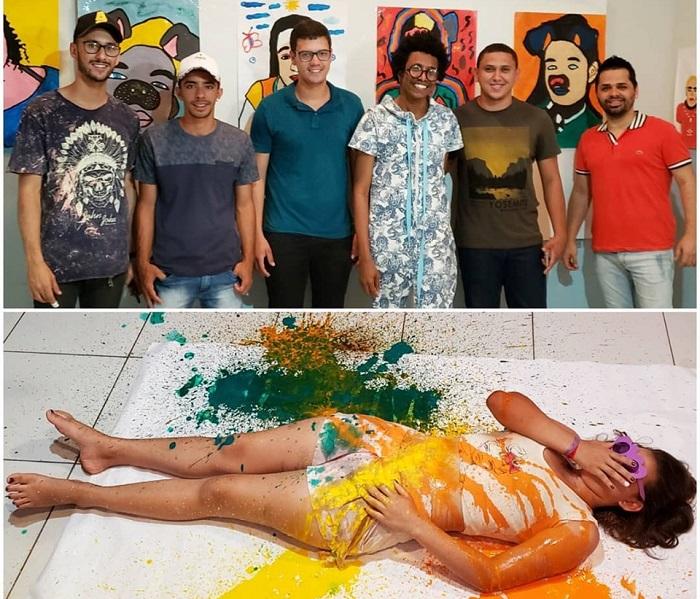 Aracatu: Mostra de Arte Contemporânea é realizada na Escola Municipal Antônio Carlos Magalhães no povoado da Baraúnas