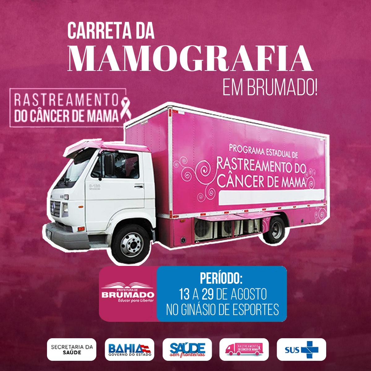 Prefeitura e SESAB irão realizar exames gratuitos de Mamografia em Brumado