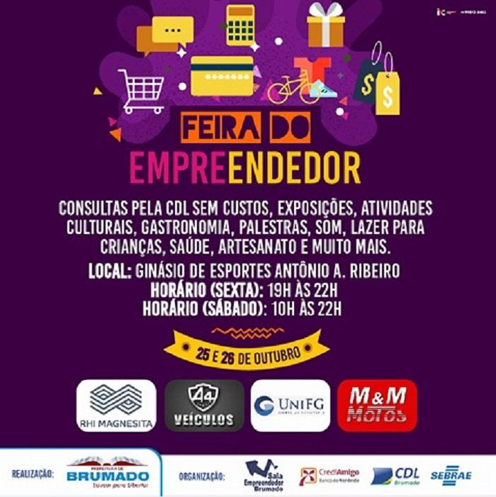 Prefeitura de Brumado realiza Feira do Empreendedor na sexta (25) e no sábado (26)