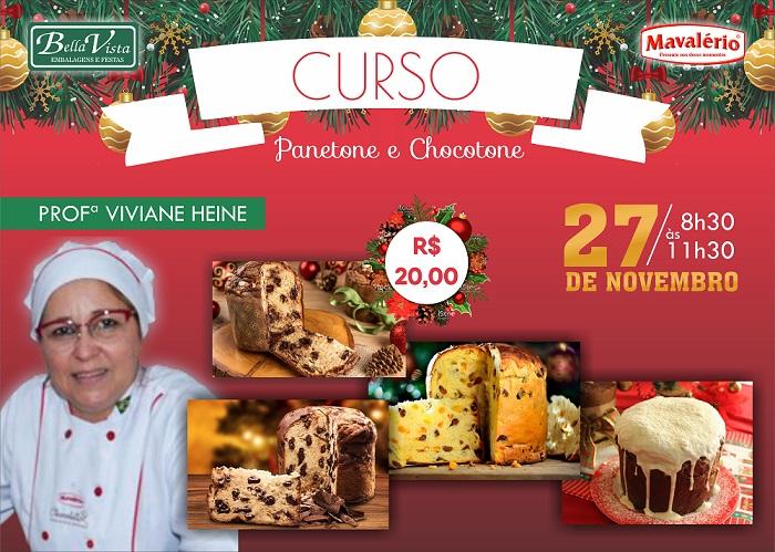 Bella Vista promoverá cursos de Panetone, Chocolates, Pão de Queijo, Chimango e Pão de Natal; participe