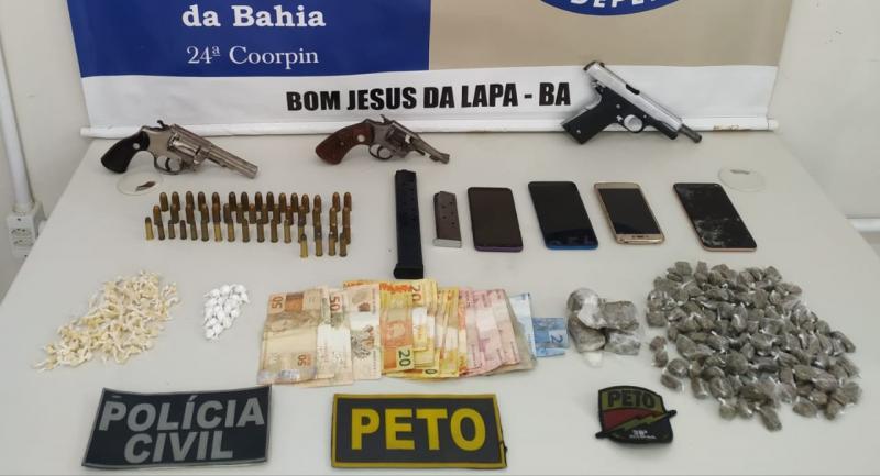 PC e PM desarticulam facção em Bom Jesus da Lapa