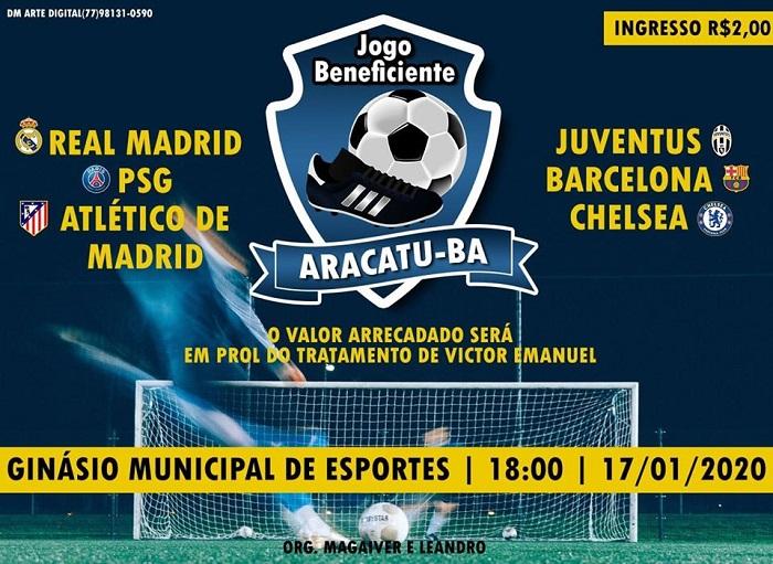 Jogo beneficente em prol de tratamento de jovem será realizado em Aracatu nesta sexta, 17; participe