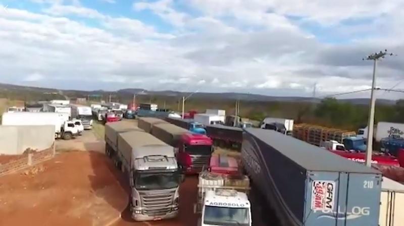 Vídeo: Veja a cobertura completa da paralisação dos caminhoneiros em Brumado