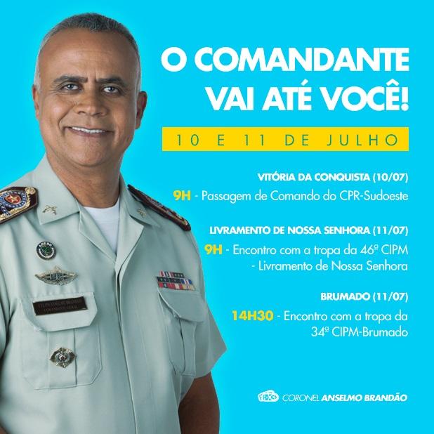 Coronel da PM da Bahia visitará Brumado e demais municípios do interior no mês de Julho