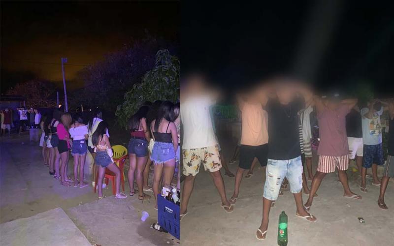 Aglomeração: Polícia acaba com festa com cerca de 100 pessoas na zona rural de Brumado