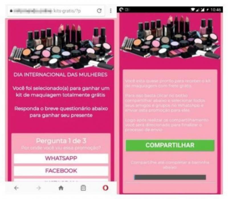 Novo golpe no WhatsApp se aproveita do Dia Internacional da Mulher