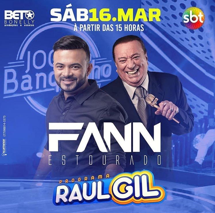 É hoje: Cantor brumadense Fann Estourado se apresentará no programa Raul Gil