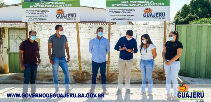 Prefeito de Guajeru assina ordem de serviço para construção das Secretarias de Saúde e Educação
