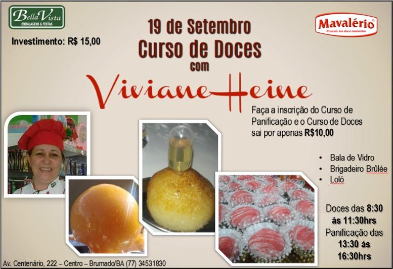Bella Vista promoverá mais um curso com a Culinarista Viviane Heine