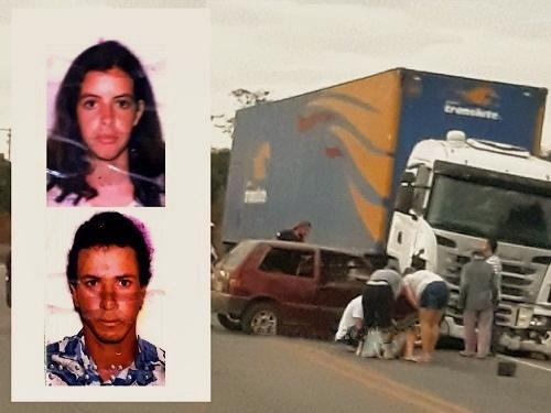 Rio do Antônio: Casal morre e filha fica ferida após colisão entre carro e carreta na BR-030, em Ibitira