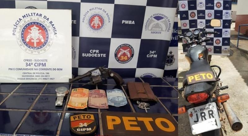 Brumado: Moto roubada na Vila Presidentes Vargas é recuperada pela PM