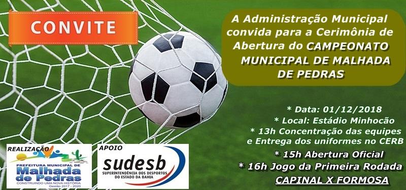 Prefeitura promove Campeonato Municipal de Malhada de Pedras